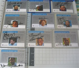 Houston Oilers certified autograph 1991 1992 Pro Line team card set Warren Moon Ray Childress Ernest Givens Haywood Jeffires