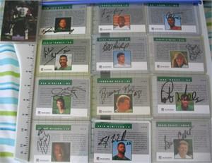 New York Jets certified autograph 1991 1992 Pro Line team card set Brad Baxter Erik McMillan Rob Moore Ken O'Brien Al Toon