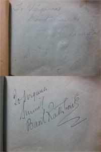 1930s Hollywood autograph album or book autographed by 28 actors actresses directors (Lon Chaney Jr. Basil Rathbone) JSA