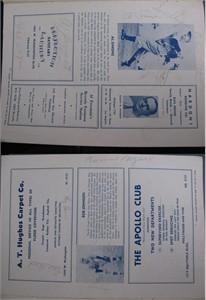 1941 Philadelphia Athletics & Pittsburgh Pirates autographed program (Honus Wagner Al Simmons) JSA