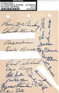 1948 Philadelphia Athletics team autographed album page PSA/DNA (Pete Suder)