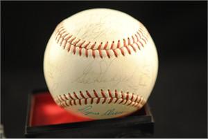 1965 Washington Senators team autographed AL baseball Gil Hodges Frank Howard Rube Walker (JSA)