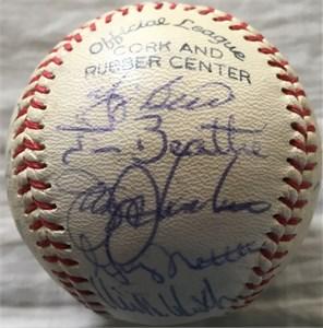 1978 New York Yankees World Series Champions team autographed baseball (Yogi Berra Goose Gossage Ron Guidry Catfish Hunter Reggie Jackson)