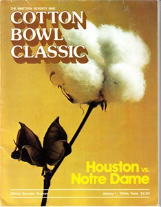 1979 Cotton Bowl college football program Joe Montana Notre Dame Chicken Soup Game