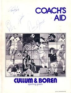 1980 NASL Dallas Tornado autographed booklet (Omar Gomez Flemming Lund Al Miller Wolfgang Rausch Zequinha)
