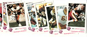 1982 Washington Redskins Police partial card set (Monte Coleman Mark Moseley)