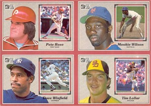 1983 Donruss Action All-Stars complete jumbo card set (George Brett Cal Ripken Nolan Ryan)
