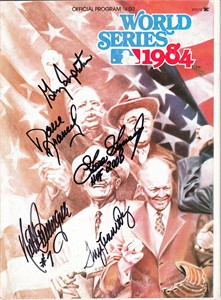 1984 San Diego Padres autographed World Series program (Dave Dravecky Terry Kennedy Garry Templeton)