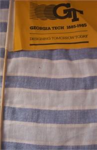 1985 Georgia Tech Centennial Celebration mini flag
