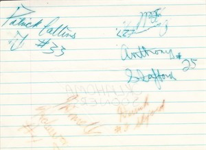 1985 Oklahoma Sooners National Champions autographs (Jamelle Holieway Derrick Shepard)