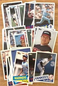 1985 Topps Super 5x7 inch baseball card partial set (George Brett Don Mattingly Cal Ripken Nolan Ryan)