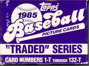1985 Topps Traded complete 132 baseball card set (Vince Coleman Ozzie Guillen Roger McDowell Mickey Tettleton RCs)