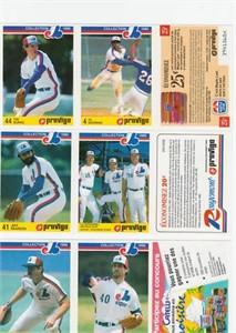 1986 Provigo Montreal Expos 28 card set (Andre Dawson Andres Galarraga Tim Raines)