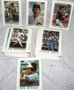 1986 Topps Mini League Leaders complete set of 66 cards (Tony Gwynn Cal Ripken Nolan Ryan)