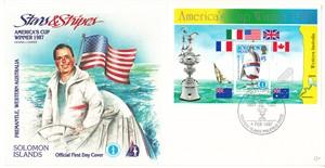 1987 America's Cup commemorative cachet envelope (Dennis Conner)