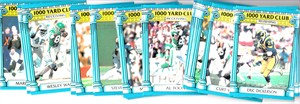 1987 Topps 1000 Yard Club football card set (Eric Dickerson Steve Largent Art Monk Walter Payton Jerry Rice)