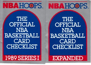 1989-90 NBA Hoops set of 2 checklists (Series 1 & Expanded)