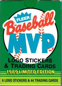 1989 Fleer MVP complete 44 card set (George Brett Tony Gwynn Kirby Puckett)