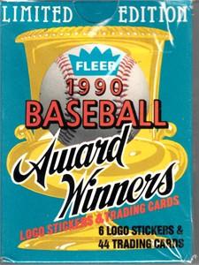 1990 Fleer Award Winners complete 44 card set (Ken Griffey Jr. Kirby Puckett Nolan Ryan Robin Yount)