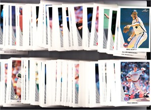 Lot of 300 assorted 1990 Leaf baseball cards (7 Carlos Baerga RCs 9 Kirby Puckett etc)