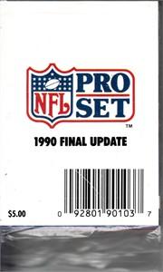 1990 NFL Pro Set Final Update complete factory sealed set (Emmitt Smith)