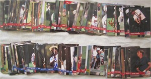 Partial set of 173 autographed 1992 Pro Set PGA Tour golf cards (Gay Brewer Bob Charles Fred Couples Ben Crenshaw Nick Faldo Bernhard Langer Jose Maria Olazabal Gary Player Vijay Singh)