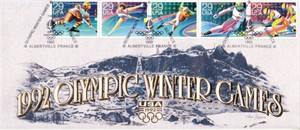 1992 Olympic Winter Games (Albertville) USPS cachet envelope