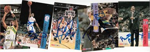 Lot of 6 different autographed 1993-94 Hoops autographed cards (Ervin Johnson Lamond Murray Pooh Richardson)