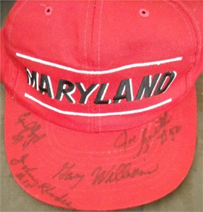 1993-94 Maryland Terrapins basketball autographed cap or hat (Joe Smith Gary Williams)