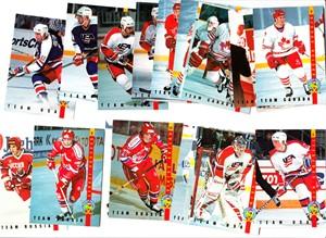 1994 Classic Pro Prospects Ice Ambassadors 20 hockey card insert set (Sergei Gonchar Paul Kariya Saku Koivu Brian Rolston)