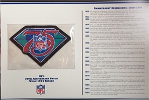1994 NFL 75th Anniversary original embroidered jersey patch