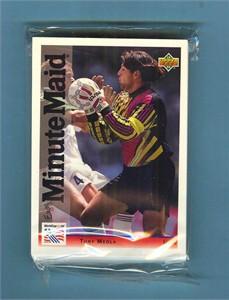 1994 Upper Deck Minute Maid World Cup 25 soccer card set (Roberto Baggio Jorge Campos Tony Meola Romario Carlos Valderrama)