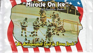 1995 Signature Rookies 1980 USA Miracle on Ice hockey unopened foil pack (one certified autograph card per pack)