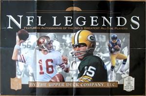 1997 Upper Deck NFL Legends poster (Joe Montana Bart Starr Charlie Joiner)