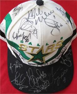 1997-98 Dallas Stars team autographed cap or hat (Mike Modano Ed Belfour Darryl Sydor Sergei Zubov)