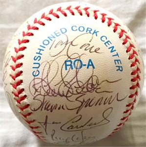 1999 New York Yankees World Series Champions team autographed AL baseball Roger Clemens Derek Jeter Tino Martinez Paul O'Neill Andy Pettitte Jorge Posada Joe Torre