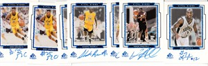 Lot of 7 assorted 1999 SP Vital Signs certified autograph basketball cards