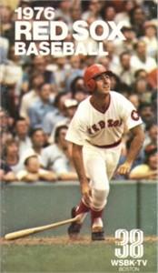 1976 Boston Red Sox pocket schedule (Fred Lynn)