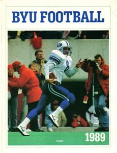 1989 BYU Cougars college football media guide (Heisman winner Ty Detmer)