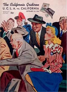 1944 Cal Bears vs UCLA Bruins college football game program (Bob Waterfield Bronko Nagurski) PRISTINE