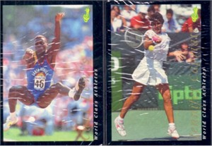 1992 Classic World Class Athletes 60 card set (Muhammad Ali Nadia Comaneci Oscar De La Hoya Pete Sampras)