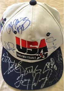 1994 USA Dream Team 2 autographed cap Tim Hardaway Shawn Kemp Dan Majerle Isiah Thomas Dominique Wilkins