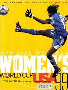 1999 FIFA Women's World Cup WWC soccer program