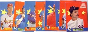 1986 Fleer All-Star Team 12 insert card set (George Brett Don Mattingly Cal Ripken)
