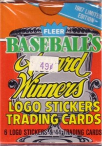 1987 Fleer Award Winners 44 card baseball set (Roger Clemens Tony Gwynn Don Mattingly Cal Ripken Ozzie Smith)