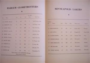 1951 Minneapolis Lakers (George Mikan) at Philadelphia Warriors program insert