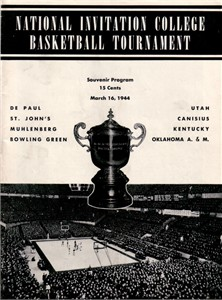1944 NIT college basketball program (De Paul Kentucky St. John's Utah)