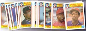 1986 Topps Quaker Chewy Granola 33 baseball card set (George Brett Cal Ripken Nolan Ryan)