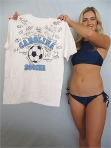 1997 UNC National Champions Team autographed North Carolina Soccer shirt (Anson Dorrance Lorrie Fair Cindy Parlow Tiffany Roberts)