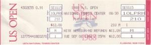 1988 U.S. Open tennis full unused ticket (Steffi Graf Grand Slam)